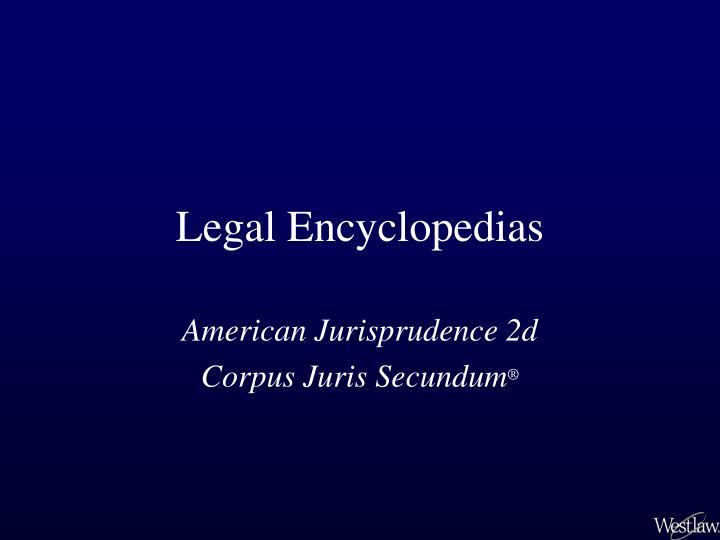 legal encyclopedias n.
