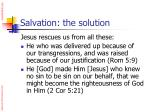 salvation the solution