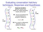 evaluating conservation hatchery techniques responses and hypotheses
