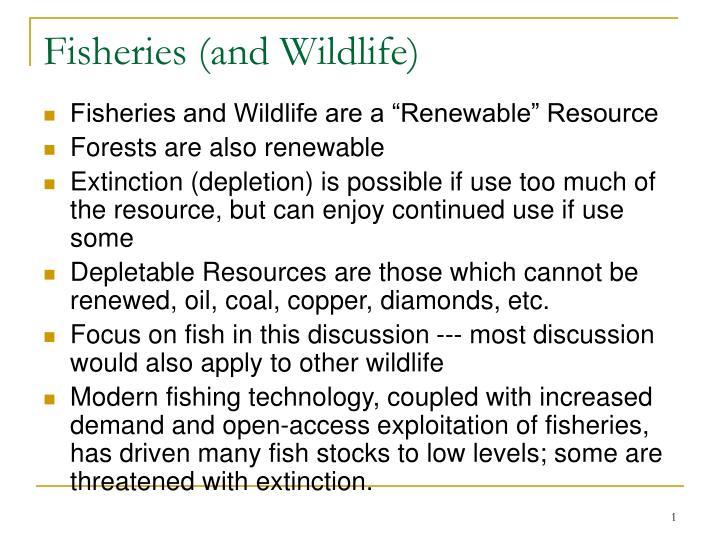 fisheries and wildlife n.