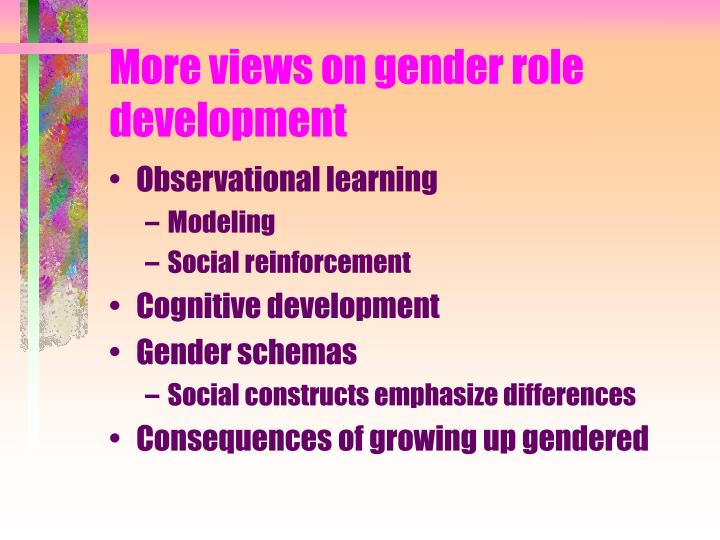 More views on gender role development