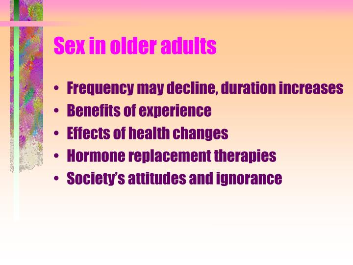 Sex in older adults