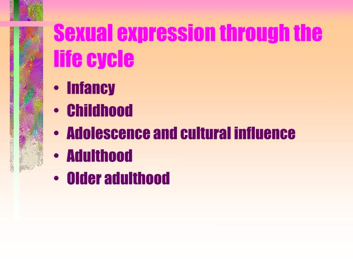Sexual expression through the life cycle