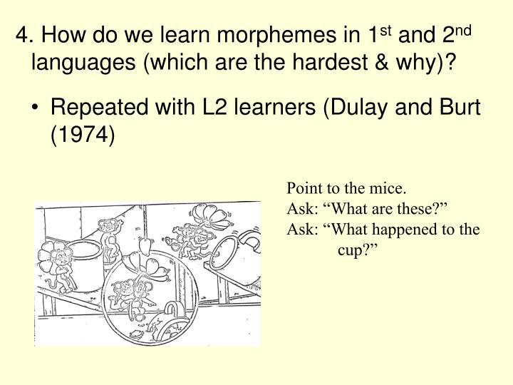 4. How do we learn morphemes in 1