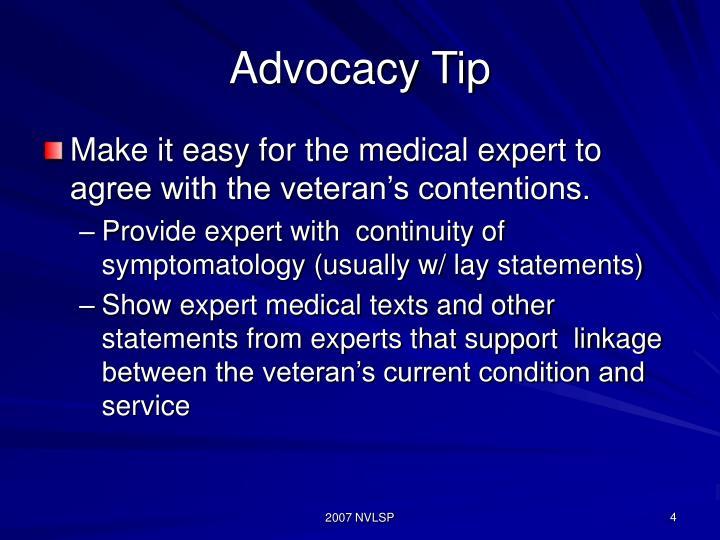 Advocacy Tip