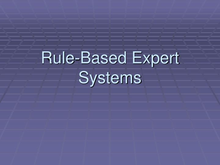 rule based expert systems n.
