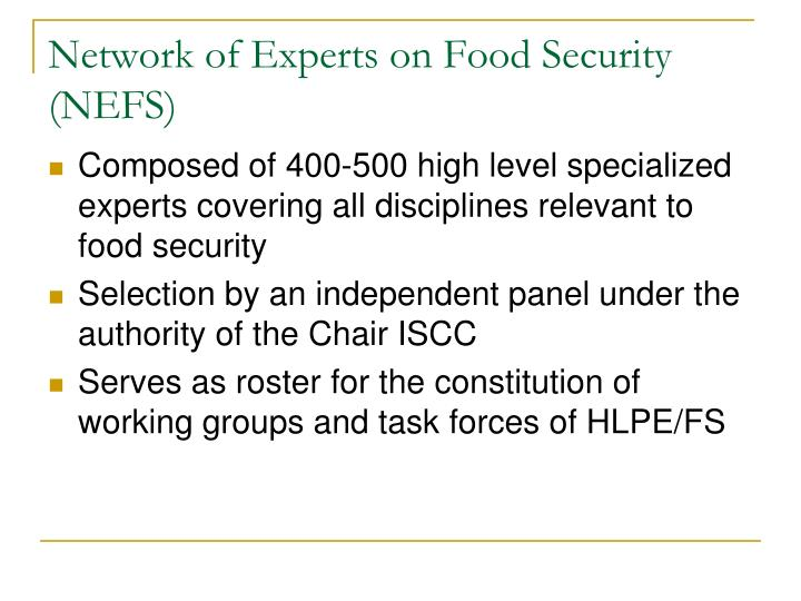 Network of Experts on Food Security (NEFS)