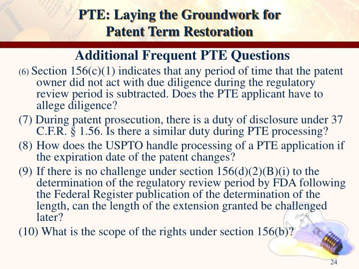PTE: Laying the Groundwork for
