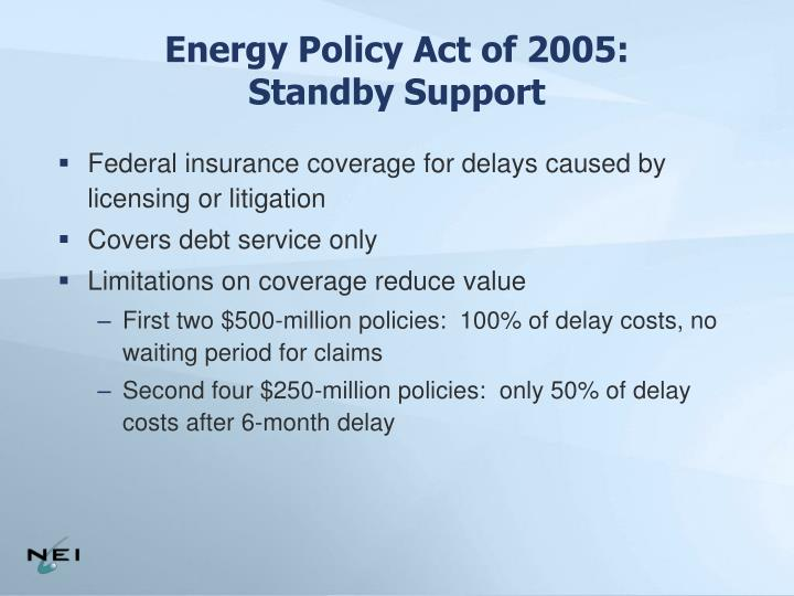 Energy Policy Act of 2005: