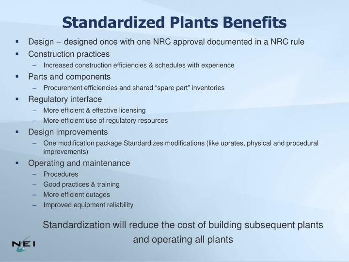 Standardized Plants Benefits