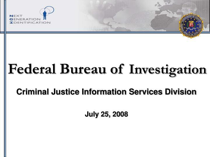 federal bureau of investigation n.