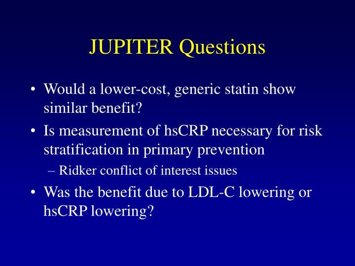 JUPITER Questions