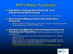 rtf s major functions