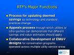 rtf s major functions1