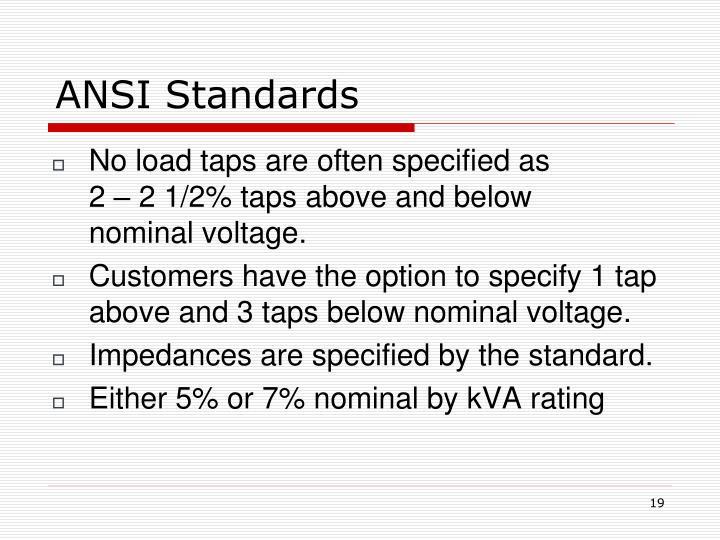 ANSI Standards