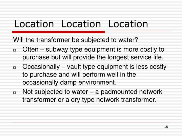 Location  Location  Location