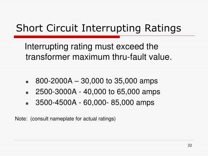 Short Circuit Interrupting Ratings