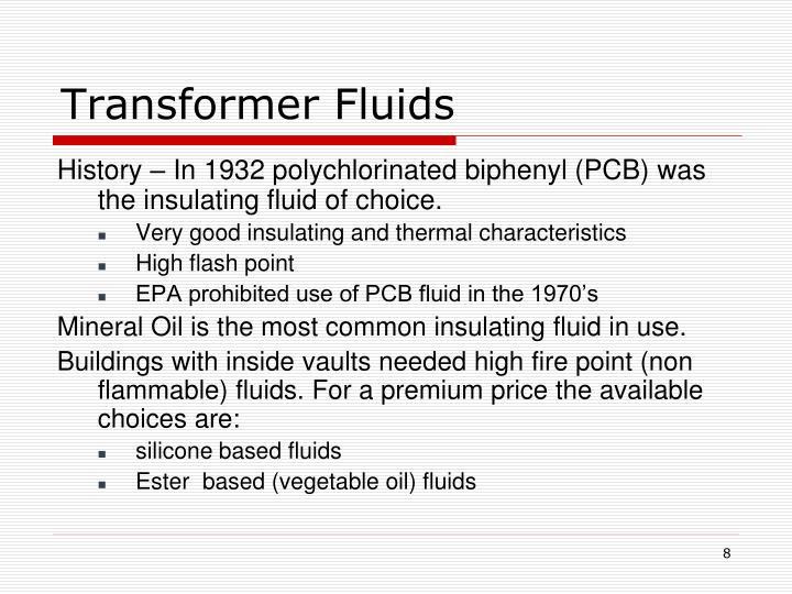Transformer Fluids