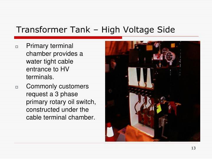 Transformer Tank – High Voltage Side