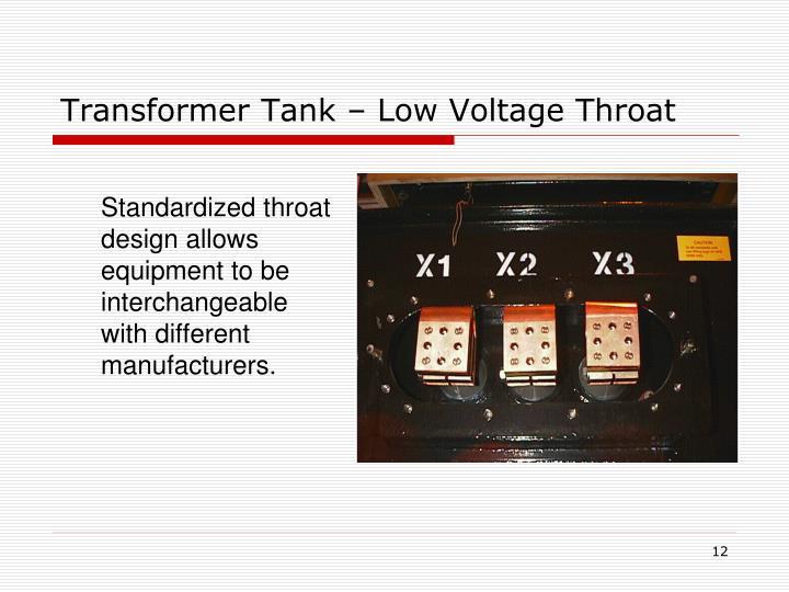 Transformer Tank – Low Voltage Throat