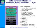 data types and test data constants types templates 1 2