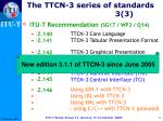 the ttcn 3 series of standards 3 3
