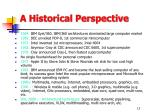 a historical perspective1