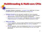multithreading multi core cpus