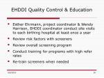 ehddi quality control education