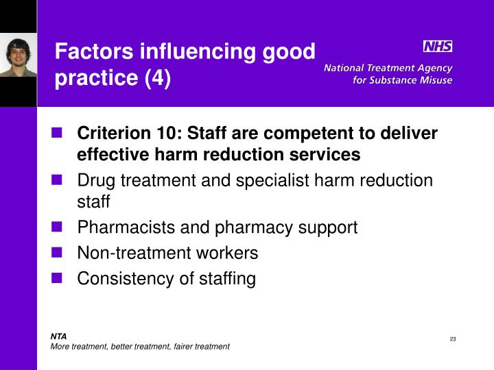 Factors influencing good practice (4)