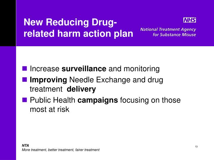 New Reducing Drug-related harm action plan