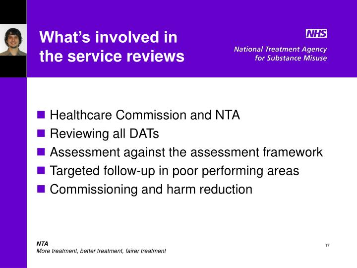 What's involved in       the service reviews
