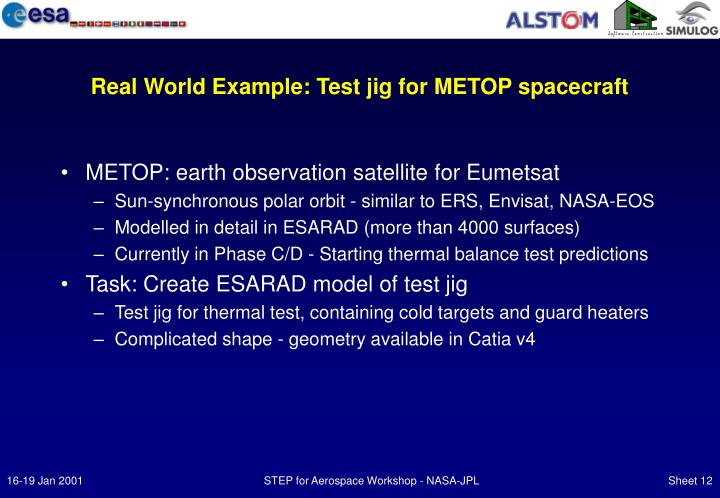 Real World Example: Test jig for METOP spacecraft
