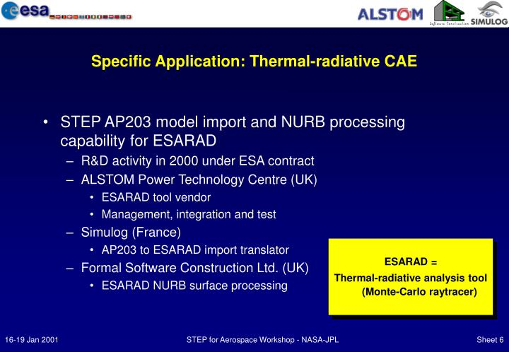 Specific Application: Thermal-radiative CAE