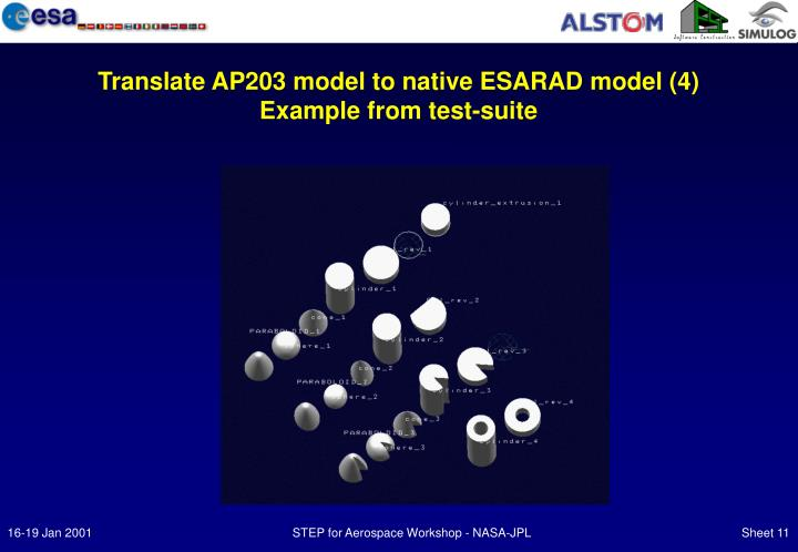 Translate AP203 model to native ESARAD model (4)