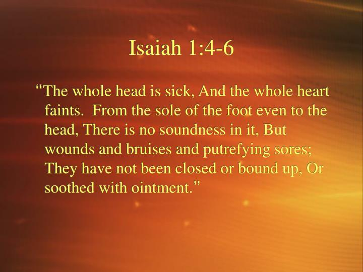 Isaiah 1:4-6