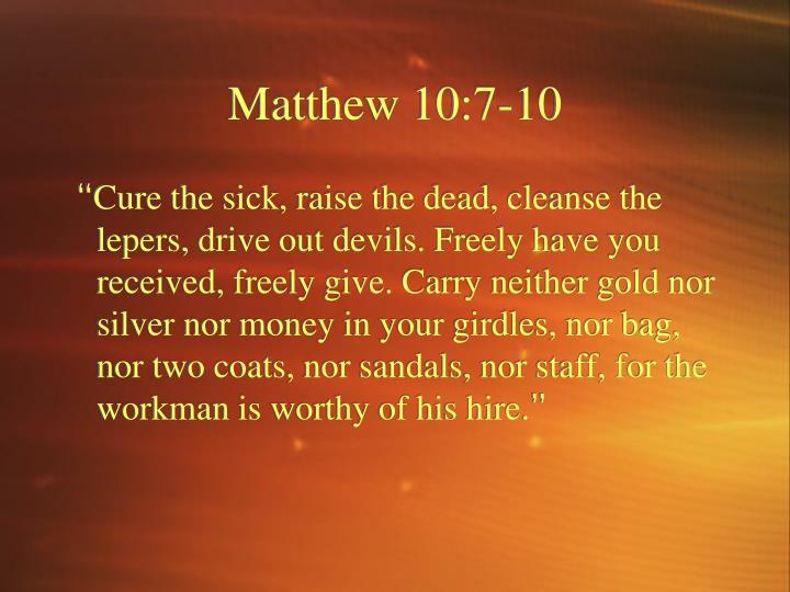 Matthew 10 7 10