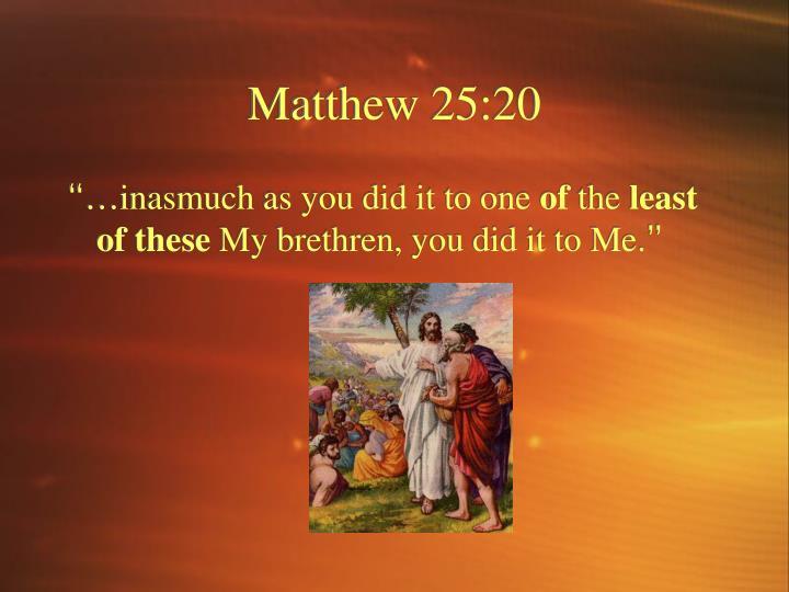 Matthew 25:20