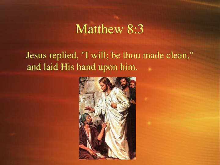 Matthew 8:3