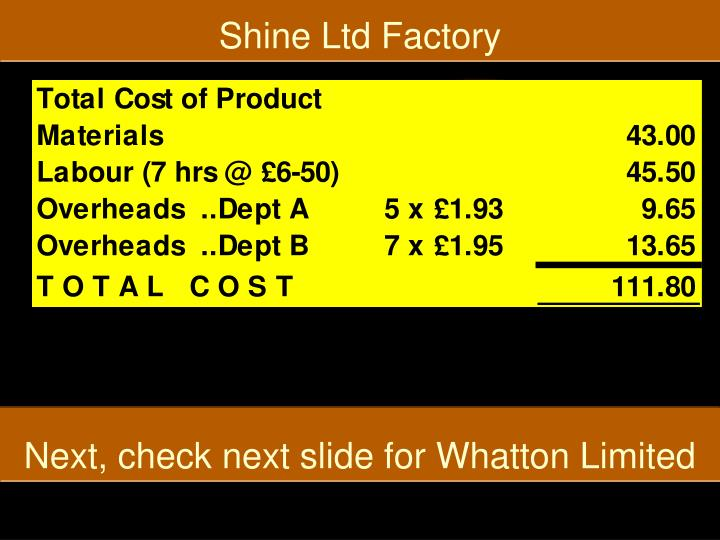 Shine Ltd Factory