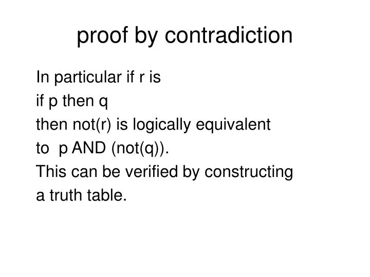 Proof by contradiction2