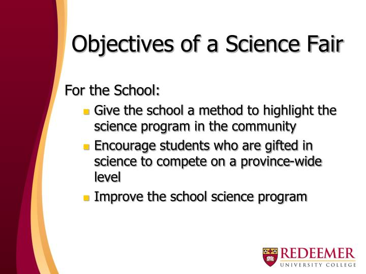 Objectives of a science fair1