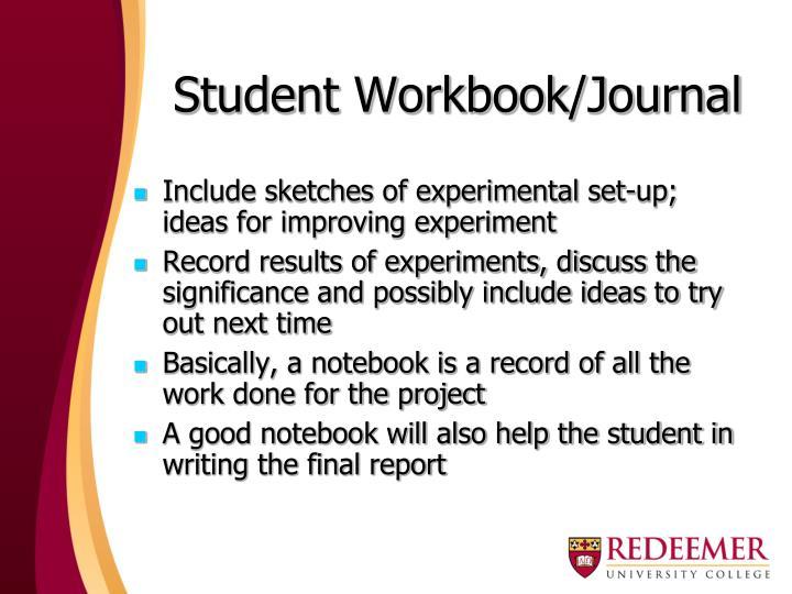 Student Workbook/Journal