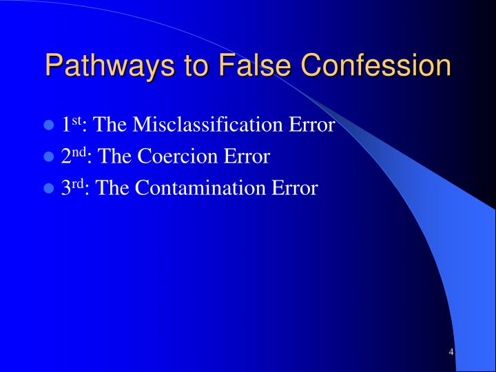 Pathways to False Confession
