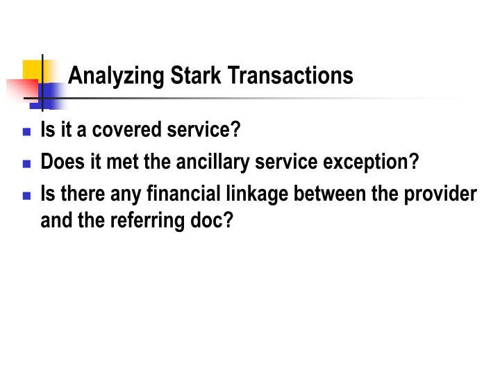 Analyzing Stark Transactions