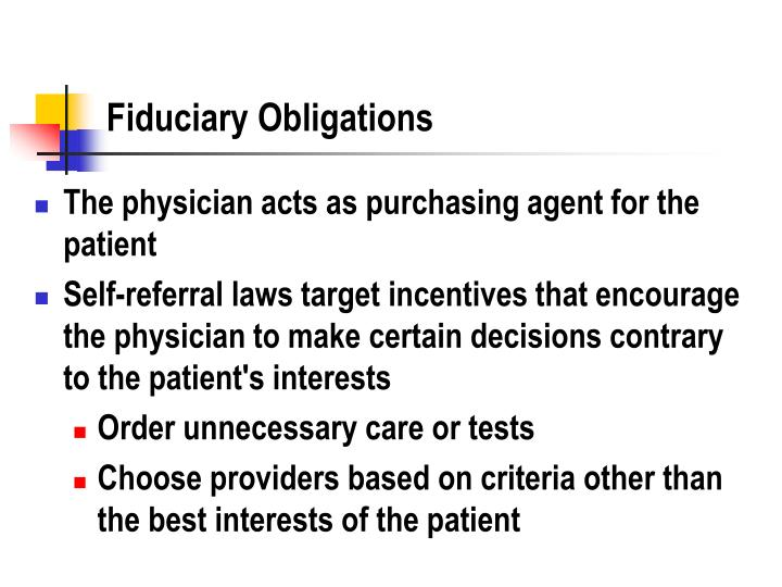 Fiduciary Obligations