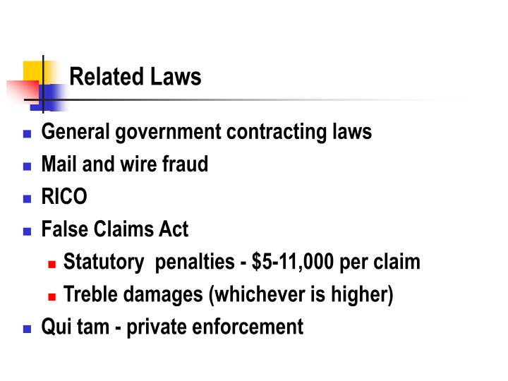 Related Laws