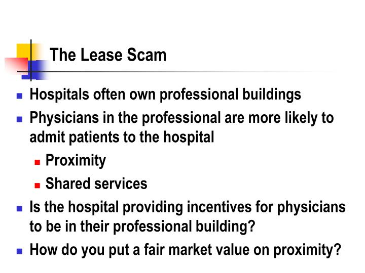 The Lease Scam