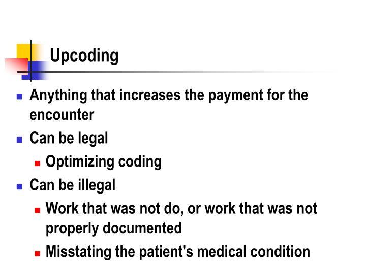 Upcoding