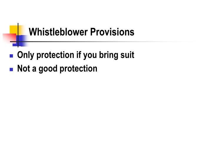 Whistleblower Provisions
